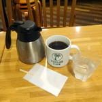 カウカウ カフェ - 朝食セットにプラスのコナコーヒー100円
