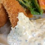 レストラン美濃 - エビフライのタルタルソース