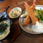 レストラン美濃 - 和風ぞうすいエビフライセット 1480円