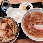 うどんウエスト - かき揚げ丼セット(710円)