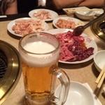 げんかや - ビールにお肉