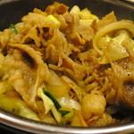 吉野家 - 牛バラ野菜焼定食:大盛り