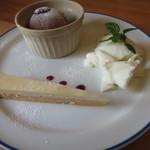 チョコ - デザート3種盛り
