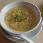 洛陽花 - 玉子スープ。