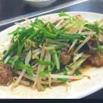 中華料理 哲ちゃん - 料理写真:ニラレバー炒め。やっぱり美味しい。ニラもやしシャキシャキ。レバーもカリシトで美味い¥750。満足*\(^o^)/*