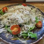 和 dining 清乃 - しらすサラダのハーフサイズを無理言って作ってもらいました(^^)