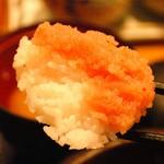30494314 - 明太子食べ放題の真骨頂!!白ご飯と明太子が5:5の贅沢食べです( ´ ▽ ` )ノ