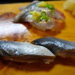 寿司の大将 - 別注の〆秋刀魚と生秋刀魚