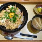 ごはんかふぇはなまる - 料理写真:ダブルたまごの特製親子丼 713円