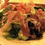 パンチャピエーナ - 料理写真:パスタセット(980円)のパルマ産生ハムサラダ