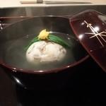 日本料理 晴山 - 帆立と椎茸のしんじょう