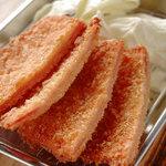 池袋駄菓子バー - 当店自慢の一品☆ハムカツ。お店で手仕込みしています