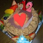 カトルセゾン - 料理写真:長男の誕生日ケーキ