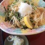 富士見庵 - 白海老の天おろしそば 1050円