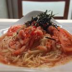 神戸北野エミシアカフェ - 桜えびとトマトのカッペリーニ