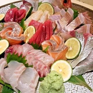 日本酒でおいしいお魚をお楽しみください