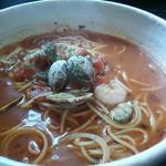 六曜館 - 料理写真:ランチ(完熟トマトと魚介のトマトスープスパ)