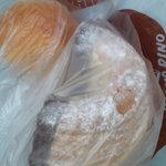 ヤオコー - もちチーズとクロワッサンドーナツ(チョコ)半分GET☆