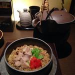 熟成焼鳥 居酒屋 かまどか - 鶏のドライカレー釜炊き御飯