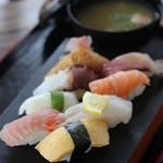 安心食堂 潮彩 - 握り寿司