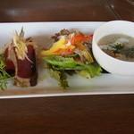 Kaferesutorankomodo - ランチ(サラダ、スープ、カルパッチョ)