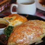 レストラン とまと - オムライスとグラタンハンバーグのセット