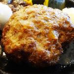 みさき食堂 - 2014.08_サガリサイコロコンボ(1275円)ハンバーグ