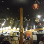 浜焼太郎 - 店内には焼きの煙が...