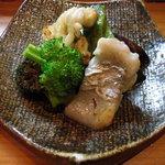 ほむら - 太刀魚焼と穴子焼と茹で焼ブロッコリー二種。