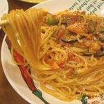 にんにく屋 五右衛門 - ナスとアボカドとにんにくのトマトソーススパゲッティ03