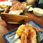 北の味紀行と地酒 北海道 - とーれとれ ぴーちぴちとはいかないが蟹料理♪