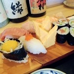 秀すし  - しっかりとしたお寿司です。ご主人の創作料理もお得意なようです。