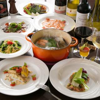 菜厨瑠のスタイリッシュな華やかなパーティー料理