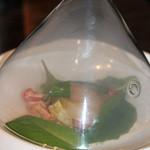 ポレポレ - ホタテと彩り野菜のタルタル スモークの香りにのせて