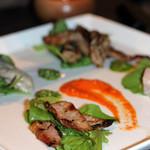 ポレポレ - 自家製スモークの盛り合わせ(牡蠣、せせり、ベーコン、カジキマグロ)