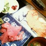 はせ川 - 鮭カマ定食&なかおち