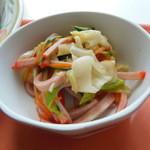 きよっち食堂 - 野菜とハムのスィートチリサラダ