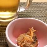 和味けいすけ - 生ビールとカンパチ南蛮漬け