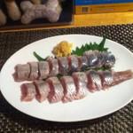 蕎麦瑠 呑楽人 - 鰯の刺身500円