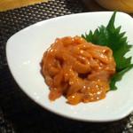 蕎麦瑠 呑楽人 - イカの塩辛300円