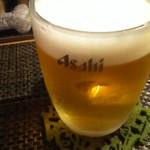 蕎麦瑠 呑楽人 - 生ビール500円