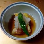 割烹 山石 - 料理写真:枝豆豆腐の揚げだし、いちじく、ししとう