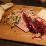 30557928 - 前菜のパテとパルジャミーノチーズ。