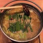めんちゃんこ亭 - 牛モツめんちゃんこ味噌