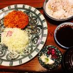 30563654 - 味噌ヒレカツ                       珍しく雑穀米を選択してました。                       (写真逆になっちゃいました。。)