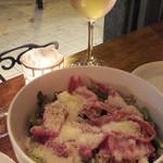 Muu Muu&il Bar CENTRAL BANCO - 生ハムとパルミジャーノチーズのサラダ:500円
