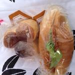 開勢堂ベーカリー - 三色パンとハムカツパン
