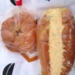 開勢堂ベーカリー - パンプキンパンとタマゴパン
