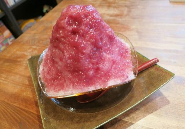 尼ヶ坂 - 藤稔(ふじみのり)を使ったかき氷♪