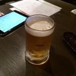 海鮮居酒屋さんせん - 生ビール